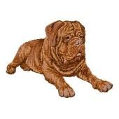 Borduurapplicatie Bordeaux Dog EMB002 - rechts kijkend