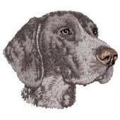 Borduurapplicatie Duitse Staande Hond - Korthaar EMB001 - rechts kijkend