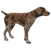 Borduurapplicatie Duitse Staande Hond - Korthaar EMB002 - rechts kijkend