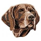 Borduurapplicatie Duitse Staande Hond - Korthaar EMB005 - rechts kijkend