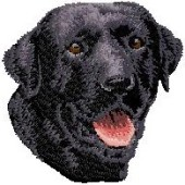 Borduurapplicatie Labrador Retriever EMB001 - rechts kijkend