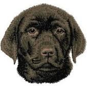 Borduurapplicatie Labrador Retriever EMB003 - rechts kijkend