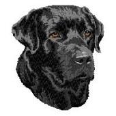 Borduurapplicatie Labrador Retriever EMB005 - rechts kijkend
