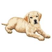 Borduurapplicatie Labrador Retriever EMB006 - rechts kijkend