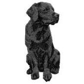Borduurapplicatie Labrador Retriever EMB012 - rechts kijkend