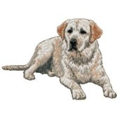 Borduurapplicatie Labrador Retriever EMB013 - rechts kijkend