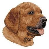 Borduurapplicatie Labrador Retriever EMB015 (Chocolate) - rechts kijkend