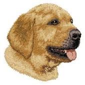Borduurapplicatie Labrador Retriever EMB015 (Yellow) - rechts kijkend