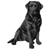 Borduurapplicatie Labrador Retriever EMB017 - rechts kijkend