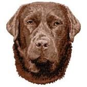 Borduurapplicatie Labrador Retriever EMB020 - rechts kijkend