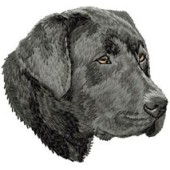 Borduurapplicatie Labrador Retriever EMB023B - rechts kijkend