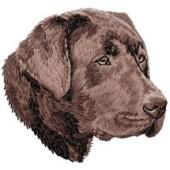 Borduurapplicatie Labrador Retriever EMB023C - rechts kijkend
