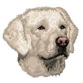 Borduurapplicatie Labrador Retriever EMB026 (Creme) - rechts kijkend