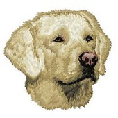 Borduurapplicatie Labrador Retriever EMB026 (Yellow) - rechts kijkend