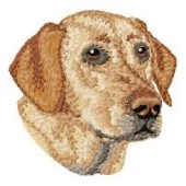 Borduurapplicatie Labrador Retriever EMB027 - rechts kijkend