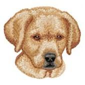 Borduurapplicatie Labrador Retriever EMB028 - rechts kijkend