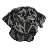 Borduurapplicatie Labrador Retriever EMB029 - rechts kijkend