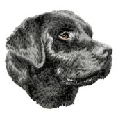 Borduurapplicatie Labrador Retriever EMB030 - rechts kijkend