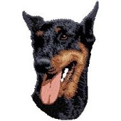 Borduurapplicatie Dobermann EMB001 - variant 1