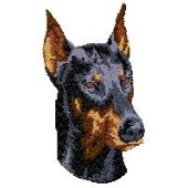 Borduurapplicatie Dobermann EMB004 - variant 1