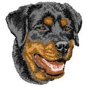 Borduurapplicatie Rottweiler EMB006 - variant 1
