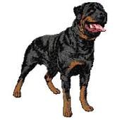 Borduurapplicatie Rottweiler EMB008 - variant 1
