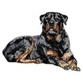 Borduurapplicatie Rottweiler EMB012 - variant 1
