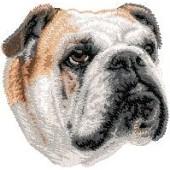 Borduurapplicatie Engelse Bulldog EMB001 - rechts kijkend