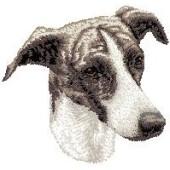 Borduurapplicatie Greyhound EMB001 - rechts kijkend