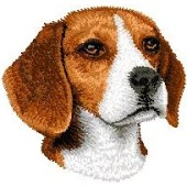 Borduurapplicatie Beagle EMB001 - rechts kijkend