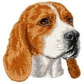Borduurapplicatie Beagle EMB004 - rechts kijkend