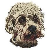 Borduurapplicatie Dandie Dinmont Terrier EMB001 - rechts kijkend