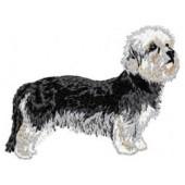 Borduurapplicatie Dandie Dinmont Terrier EMB002 - rechts kijkend