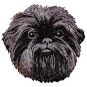 Borduurapplicatie Affenpinscher EMB001 - variant 1
