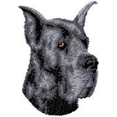 Borduurapplicatie Deense Dog / Duitse Dog EMB001 - rechts kijkend