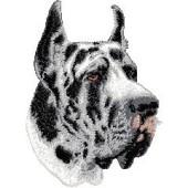 Borduurapplicatie Deense Dog / Duitse Dog EMB002 - rechts kijkend