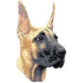 Borduurapplicatie Deense Dog / Duitse Dog EMB003 - rechts kijkend