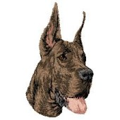 Borduurapplicatie Deense Dog / Duitse Dog EMB004 - rechts kijkend