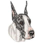 Borduurapplicatie Deense Dog / Duitse Dog EMB005 - rechts kijkend
