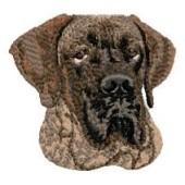 Borduurapplicatie Deense Dog / Duitse Dog EMB006 - rechts kijkend