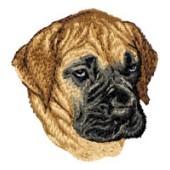 Borduurapplicatie Deense Dog / Duitse Dog EMB007 - rechts kijkend