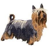 Borduurapplicatie Australian Silky Terrier EMB001 - rechts kijkend