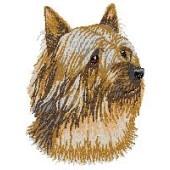 Borduurapplicatie Australian Silky Terrier EMB003 - rechts kijkend