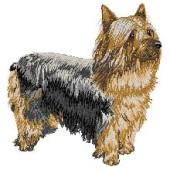 Borduurapplicatie Australian Silky Terrier EMB004 - rechts kijkend