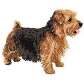 Borduurapplicatie Norfolk Terrier EMB001 - rechts kijkend