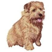 Borduurapplicatie Norfolk Terrier EMB003 - rechts kijkend