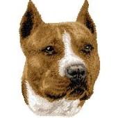 Borduurapplicatie American Staffordshire Terrier EMB001 - rechts kijkend