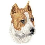 Borduurapplicatie American Staffordshire Terrier EMB002 - rechts kijkend