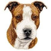 Borduurapplicatie American Staffordshire Terrier EMB003 - rechts kijkend