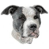Borduurapplicatie American Staffordshire Terrier EMB004 - rechts kijkend